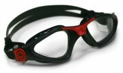 Aqua Sphere Kayenne Clear Lens Swimming Goggles - Black / Red