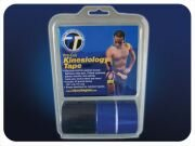 Pro-Tec Pre-Cut Kinesiology Tape - Black / Blue.
