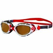 Zoggs Predator Flex Polarized Ultra Swimming Goggles - Red/White