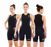 Zone3 Aquaflo Trisuit Black/Purple - Womens