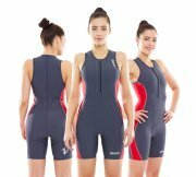 Zone3 Aquaflo Trisuit Grey/Red - Womens