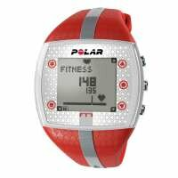 Polar FT7 Heart Rate Monitor - Red and Silver