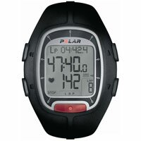 Polar RS100 Polar Heart Rate Monitor for Runners - Black