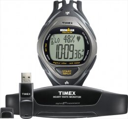 Timex Ironman Race Trainer Full Size 50-Lap Digital HRM + USB Data Xchanger