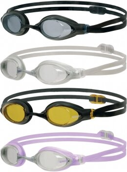 Speedo Aquasocket Racing Swimming Goggles - Black Frame / Amber Lens