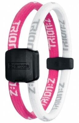Trion:Z Magnetic Ionic Sports Bracelet - Pink / White Medium